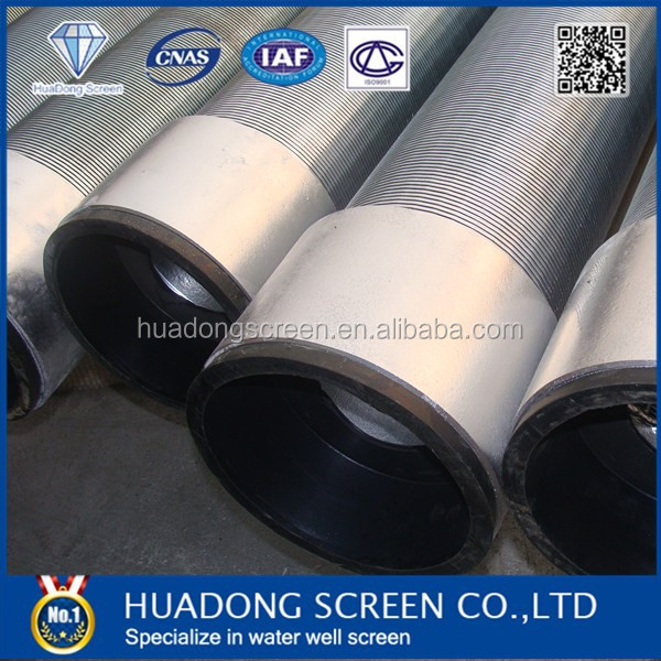 HUADONG Stainless steel wedge wire continuous screen, wedge wire screen for water well drilling ,wedge wire screen