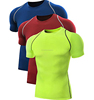 Mens skins compression rash guard fitness wear