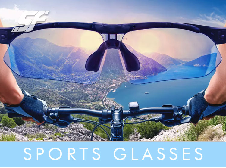 Custom High Vision Cycling Sports Sunglasses With Logo Printing