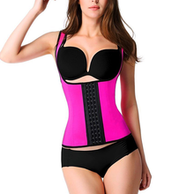 100% Latex Corset Waist Trainer 9 Steel Bone Durable hooks Waist Cincher Women Shapewear Hot Body Shaper Corset Slimming Belt
