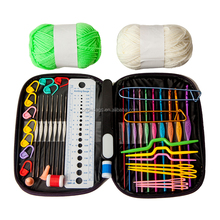 2017 Home DIY Brand Knitting Tools Set Crochet Latch Curve Needle Mark Hand Crochet Knitting Needles Weave Accessories With Case