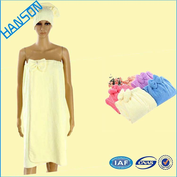 Manufacturer Easy washing button fasten shower cap home trends bath towels