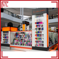 Colorful mall cell phone accessories kiosk design