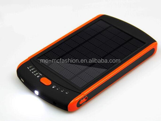 23000mAh outdoor external battery charger 12v 19v solar energy power bank for notebook and laptop