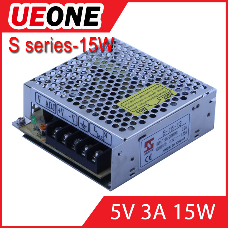 Hot sale 15w 5v 3a switching power supply of S-15-5