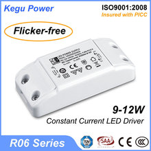 164 KEGU R06 9-12W constant current ip44 led transformer (No Flicker) with TUV CE SAA
