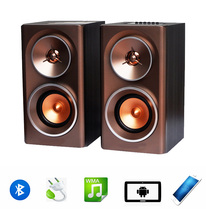 Portable China supplier wooden case bluetooth USB TF card bass AC Hi-Fi altavoz wireless bluetooth