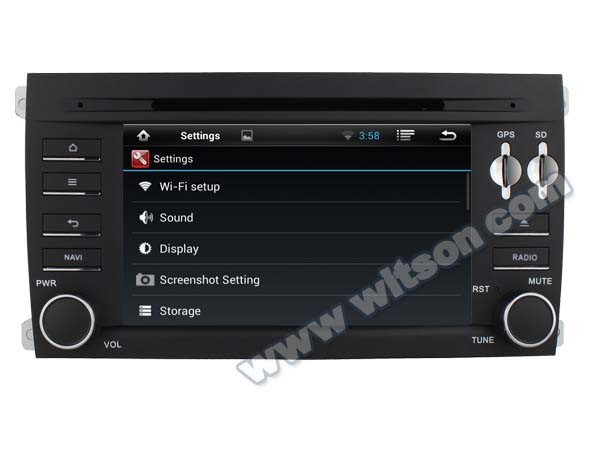 WITSON ANDROID 4.4 FOR PORSCHE CAYMAN AUTO GPS NAVIGATION WITH RAM 8GB FLASH BLUETOOTH STEERING WHEEL SUPPORT