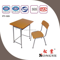 Dia 25mm single desk & Chair,school furniture PT-105I