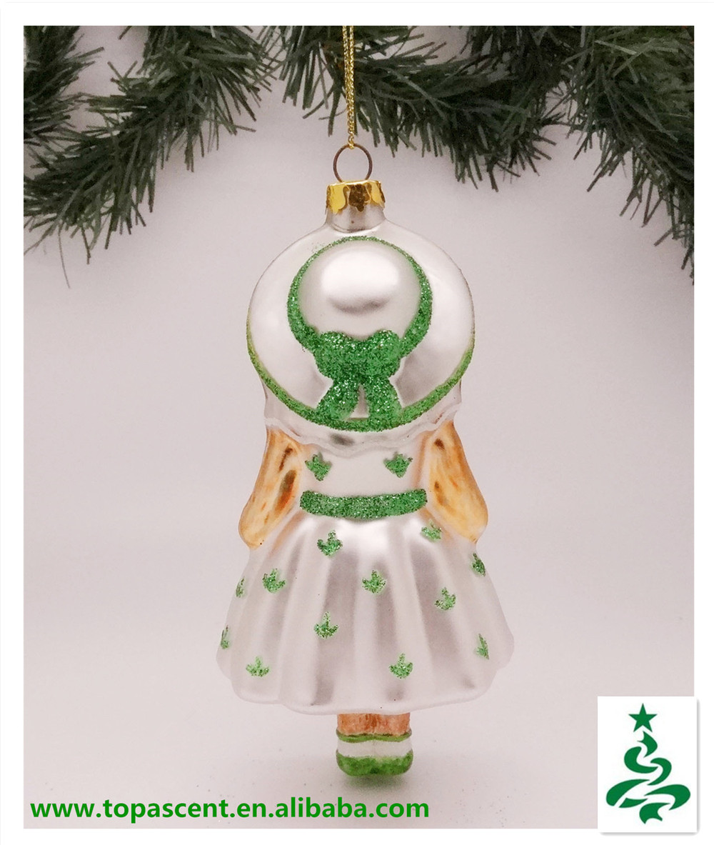 beautiful christmas glass dog ornaments wholesales from direct factory