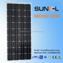for 12V water pump light system MONO crystalline 90W solar PV module