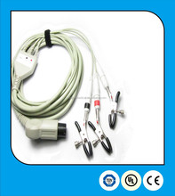 Veterinary standard 3 leads ecg cable with grabbers for animal