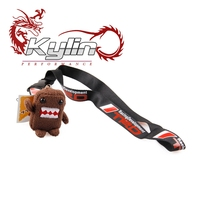 Kylin Racing Car Styling Cell Phone Ropes + DOMO Kun Look Cute Toys Key Chain Key Rings