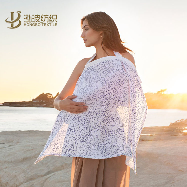 breathable muslin coton or bamboo fiber baby nursing cover