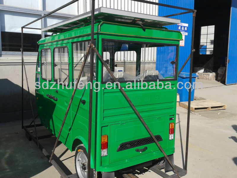 smart solar taxi electric tricycle/rickshaw for passenger