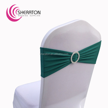 polyester cheap lycra cheap wedding chair sash for sale / elastic stretch spandex china textiles chair sashes with buckle