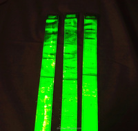 Luminous 8CM green yellow reflective warning tape PVC belt for safety vest