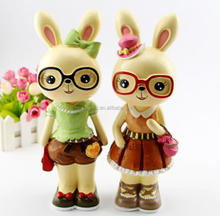 Glasses Rabbit Resin Different Kinds Of Handicraft