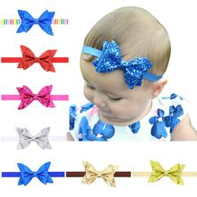 Glitter Sequin Bow Baby Headband