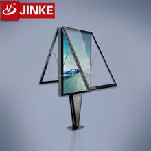 JINKE Outdoor Metal Frame Build In Scrolling Double Sided LED Display Acrylic LED Lighting Box