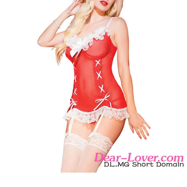 Fashion Sexy Festive Sleigh Belle white christmas party costumes