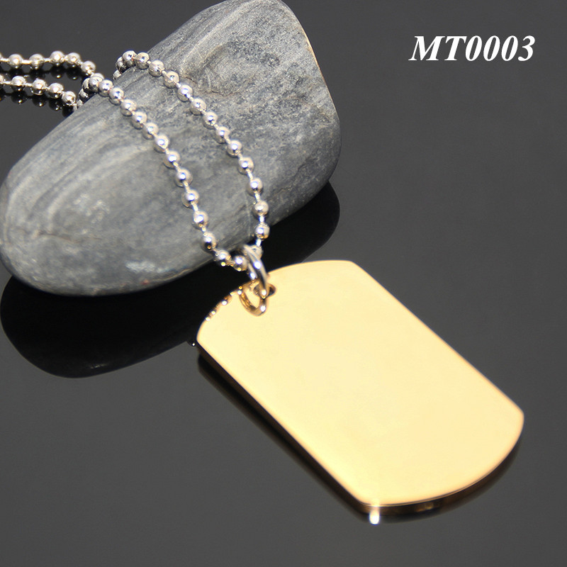 24 Inches Ball Chain Necklace For Men Boy Gift Stainless Steel Promotional Blank Metal Pet Gold Dog Tag
