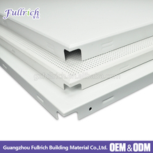 2018 open ceiling design perforated panel aluminum clip in ceiling tile