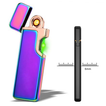USB Rechargeable Lighter ,Uopasd Windproof Mini Coil Lighter No Gas Flameless Cigarette Lighter