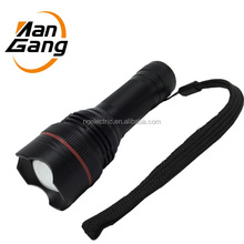 2015 NEW high power CREE Q5 LED torch button glow in dark zoomable flashlight