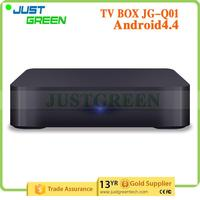 Over 15 Years Experience! Justgreen JG-Q01 Top Tv Quad Core 1GB/8GB android 4.4 Play store Support TF Support TF