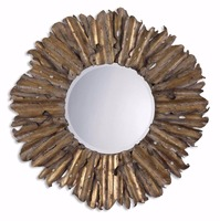 Decorative hand made antique gold leaf frame mirror on hot sales