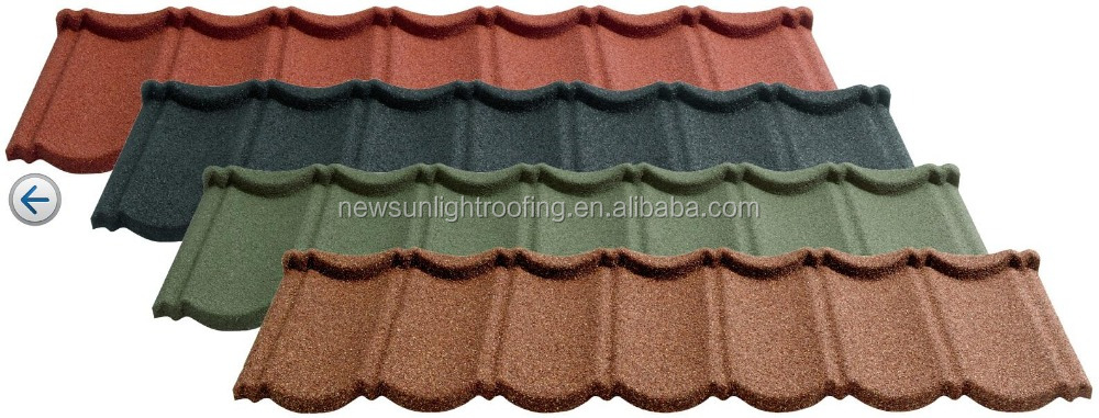 China versatile roofing in Nigeria stone coated roofing tiles