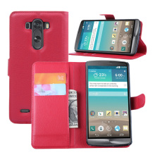 Smart phone wallet style leather case for LG G3