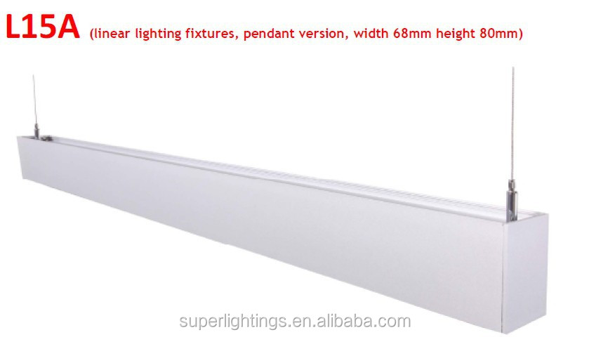 SL-L15A Office aluminum linear fluoresecent luminaire parts