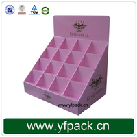 Custom printed new soap cardboard corrugated counter display