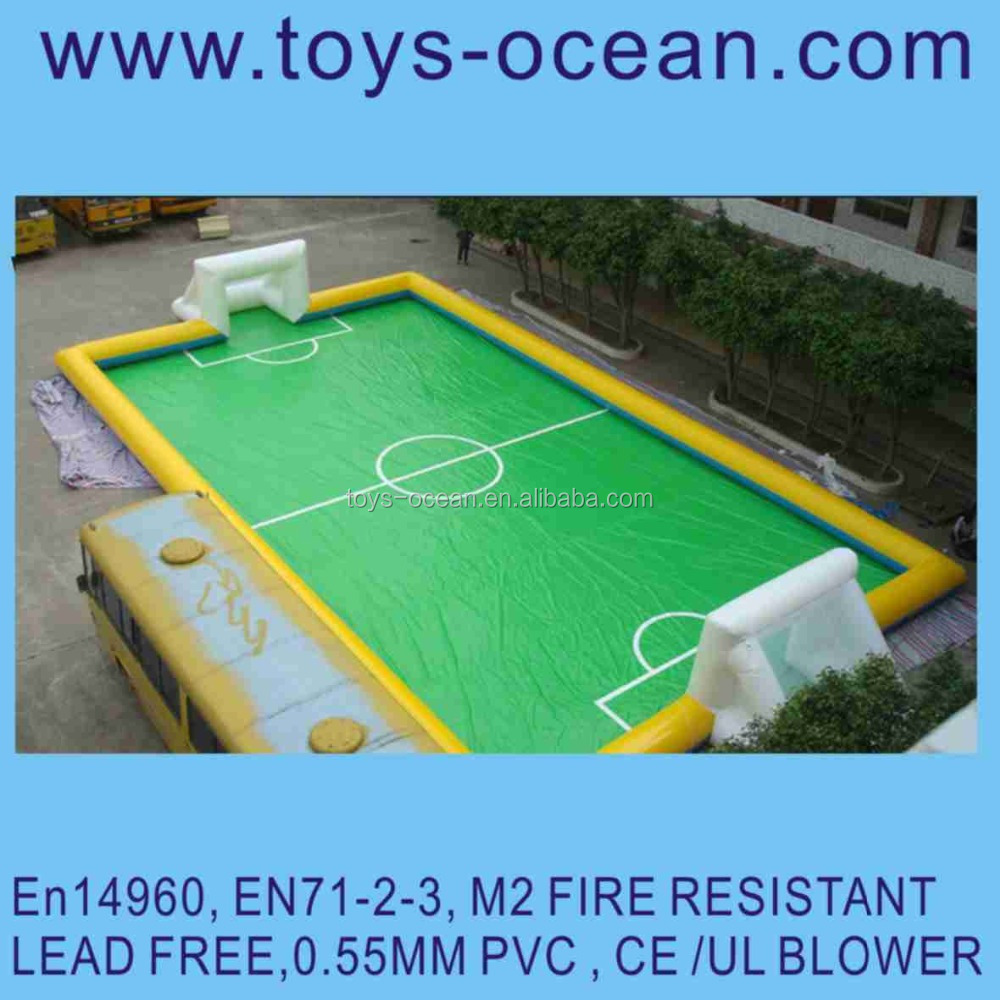 Outdoor Inflatable Soccer Field, Inflatable Football Pitch, Inflatable Football Arena