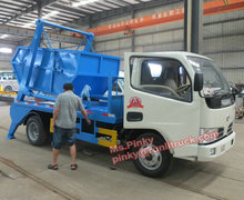 4m3 Truck Skip Bin Loader Small Garbage Truck With Bins Skip Loader