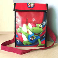 small non woven laminated insulated cooler bag with velcro closure