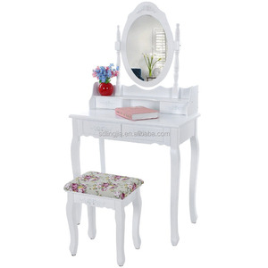 Handmade Wooden Console Royal Dressing Table Dresser With Mirror
