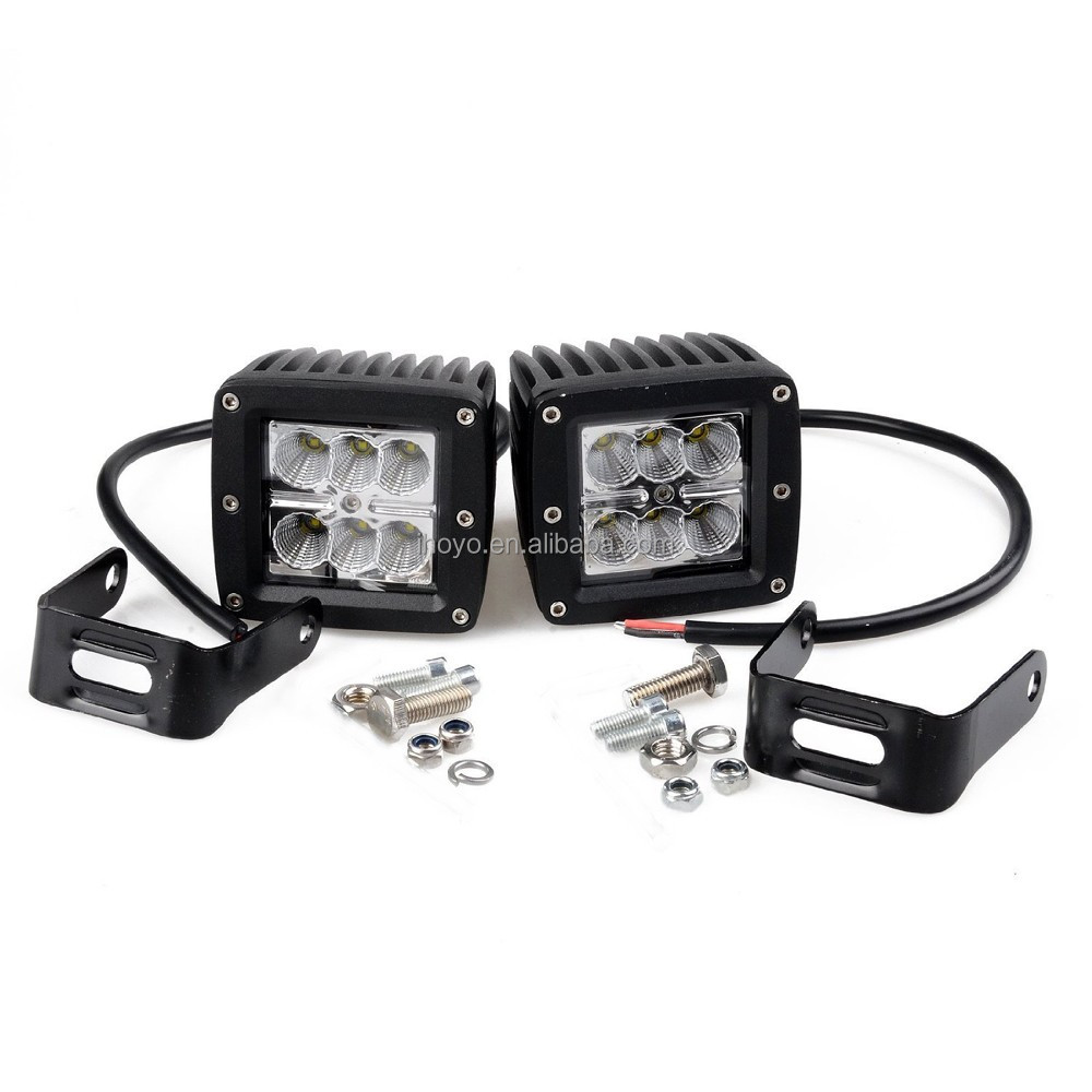 4 inch 18W Offroad/Auto LED Driving Light Bar IP68 9-32V 18W Car Accessories Led Working Lights For 4x4 Offroad truck 4WD