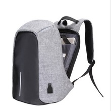 2017 waterproof reflective laptop bag anti theft school backpack with usb charger