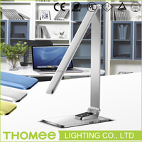 2016 New product dimmable 9W foldable touch sensor office led table lamp with usb port