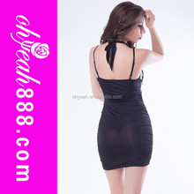 Sexy night transparent low back ladies dress names