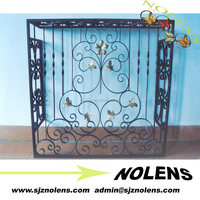 China Decorative Wrought Iron Gates/Ornamental Metal Patio Gate Designs