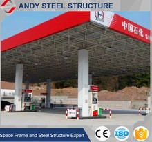 Galvanized light steel petrol stations gas station canopy
