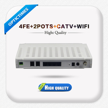 EPON ONU used to FTTH or FTTB system 4 FE ports, 2 fxs, CATV EPON ONU
