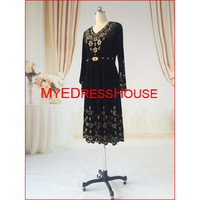 New Arriving Beaded Pakistani Long Sleeve Dresses Dubai Fashion Dresses 2015 FW BY MYEDRESSHOUSE LS1510