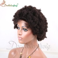 Short Bomb Style Remy Hair Full Lace Wigs For Black Women