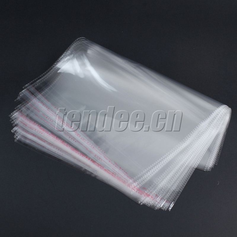 plastic clear euro hook packaging opp bag with label