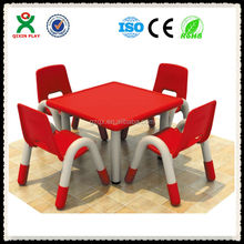 Fine Quality Rectangle 4-seast childrens table and chairs, children school desk, kids table and chairs QX-193D